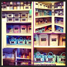 My updated Tupperware pantry with chalkboard labels for my modular mates and baskets!!