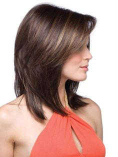 Medium Length Hairstyles with chocolate frost colour-2