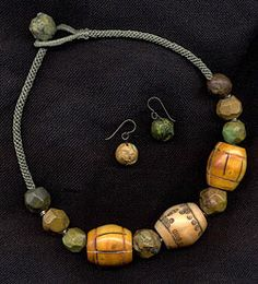 Katie Singer Jewelry - tea-stained bead necklace