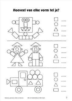 attribute block patterns for kindergarten Kindergarten Worksheets, Math Classroom, Teaching Math, Learning Activities, Preschool Activities, Kids Learning, 1st Grade Math, Math For Kids, Kids Education