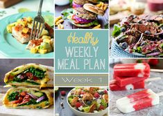 Our Healthy Meal Plan will help you navigate through the next weeks meals in an easy and healthy way that your family will enjoy! Recipes for breakfast, lunch, dinner, snack time, and dessert .. for the week! | joyfulhealthyeats.com