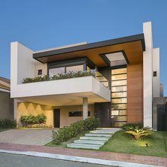 Best Modern House Design, Modern Minimalist House, Duplex House Design, House Front Design, Home Design, Design 24, Modern Villa Design, Design Case, Facade Design