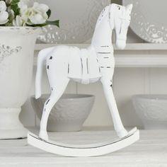 Charmig häst i trämaterial, vitmålad med inslag av svart. Toilet Paper, My Style, Decorations, Toilet Paper Roll