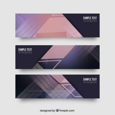 Abstract geometrical banners Rollup Banner Design, Web Banner Design, Free Infographic Templates, Event Poster Template, Banner Design Inspiration, Album Design, Banner Vector, Graphic Design Posters, Design Reference