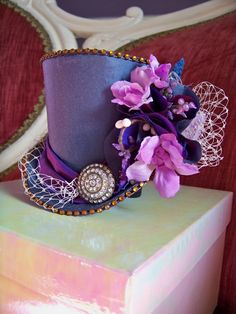 Image result for top hat with flowers