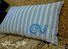 Kihnu Felt: Salyangoz Yastık / Snail Pillow