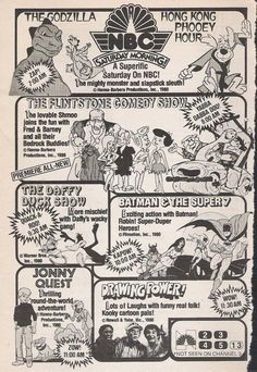 NBC Saturday Morning ad from 1980 Classic Comics, Classic Cartoons, Classic Tv, Old School Cartoons, Old Cartoons, Gi Joe, Cartoon Tv Shows, Saturday Morning Cartoons, Old Shows