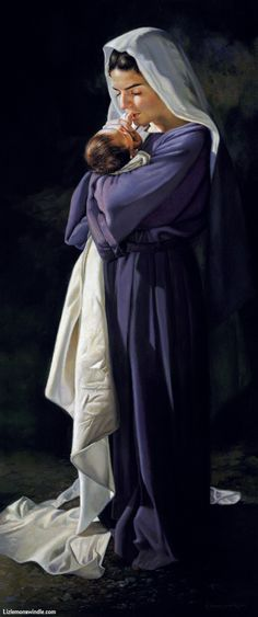 Liz Lemon Swindle Mary and Jesus Blessed Mother Mary, Blessed Virgin Mary, Divine Mother, Catholic Art, Religious Art, Liz Lemon Swindle, Image Jesus, Lds Art, Mama Mary