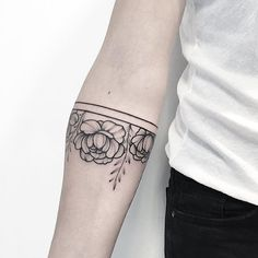 More florals ank stripes tattoos. Pinterest: Laurel Wreath