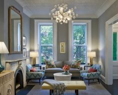 Benjamin Moore Painted Rooms   coventry gray