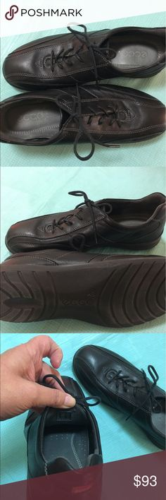 Ecco black sneaker European sneakers.  Stylish and comfortable.  New, no tags.  Smoke free environment. Ecco Shoes Sneakers
