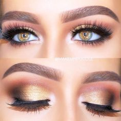 18+ Cool Makeup Looks for Hazel Eyes and a Tutorial for Dessert ☆ Top Ideas