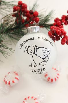 Christmas In Heaven - Dog - Christmas Ornament  by BabyGeneration, $10.00