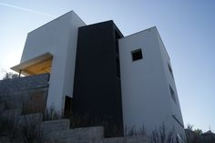 Ideas de # Exterior estilo #Moderno color #Blanco # Gris
