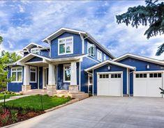 Two Tone Blue Exterior House Colors Google Search House Colors