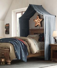driftwood above bed for canopy google search