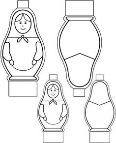 Matryoshka (Baboushka) Paper Dolls.  We did this craft in class today along with a story of Baboushka and the Three Kings. Another cute book pairing would be The Littlest Matryoshka.
