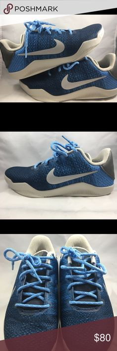 f26071ee7e12 Nike Kobe Bryant XI Shoes Size 6.5y NOB Nike Kobe Bryant XI 11 GS Shoes Size  6.5y Brave Blue Light Bone 822945-424 NOB Nike Shoes Sneakers