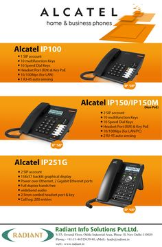 Radiant: Smart Alcatel IP Phone Systems in India for Home and Business, outstanding performance in  a compact design. #Alcatel #IPphone #IPphonesInIndia #AnalogPhone #Voip #BusinessPhone #Radiant #Business #IpPhoneSystems #Outstanding