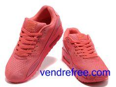 1d28284f55eb Vendre Pas Cher Homme Chaussures Nike Air Max 90 (couleur rouge) en ligne  en France.