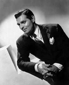 Clark Gable photographed by Laszlo Willinger, c. 1939