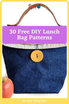 Thinking of getting a lunch bag? Here are 30 free designs pick one or two or many that work for you! #bagpatterns #freesewingpatterns #sewingpatterns #lunchbagpatterns Bag Patterns, Sewing Patterns Free, Insulated Lunch Bags, Snack Bags, Wrap Sandwiches, Pick One, Pattern Making, Free Design, Coin Purse