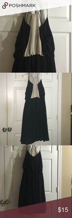Hi-low beige and black dress Cute strappy high low dress any questions feel free to ask! Freebird Dresses High Low