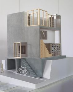 House OM model exhibits in The Architecture of Sou Fujimoto exhibition in Hanoi, Vietnam, made by Vietnamese architecture students. The… - Architecture Maquette Architecture, Architecture Model Making, Japanese Architecture, Concept Architecture, Interior Architecture, Architecture Portfolio, Landscape Architecture Model, Drawing Architecture, Classical Architecture