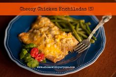 Cheesy Chicken Enchiladas (S)~ Updated recipe and printable!  THM friendly.  (Low Carb)