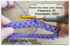 Break Free From your Chains: Chainless Single Crochet Foundation Join in the Round - Playin' Hooky Designs