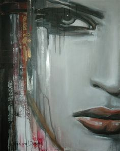 "Saatchi Online Artist Hesther Van Doornum; Painting, ""Lady in Red (Sold)"" #art"