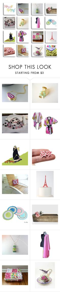 """""""Happy Spring"""" by inspiredbyten ❤ liked on Polyvore featuring Rustico"""