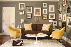 New living room grey walls brown couch teal accents Ideas Brown Couch Living Room, Living Room Paint, Living Room Colors, Living Room Grey, Living Room Designs, Living Rooms, Grey Room, Bedroom Colours, Gray Bedroom