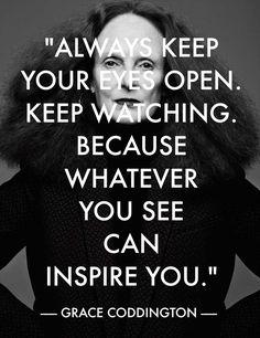 Great advice from Grace Coddington. #NYFW