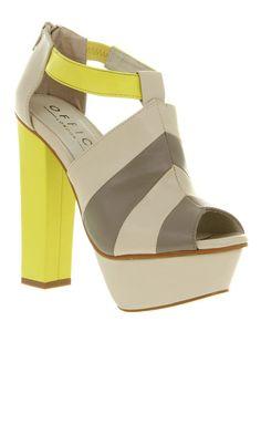sexy yellow gray platforms
