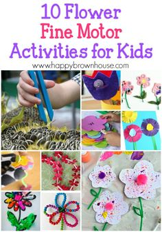 Hello Spring! Practice fine motor skills with these 10 Flower Fine Motor Skills Activities