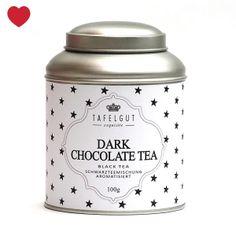 Nieuw in de shop: Tafelgut Dark Chocolate thee groot. Leuk als cadeautje of gewoon voor jezelf