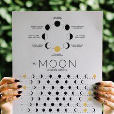 2018 Moon Calendar // jennifer-miranda.com