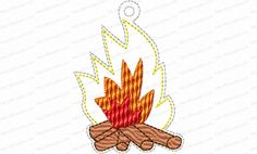 Jesse Tree Ornament Day 11 Fire Embroidery Design is a way to advent with your family and countdown the days until Christmas. 25 ornaments in the whole set.