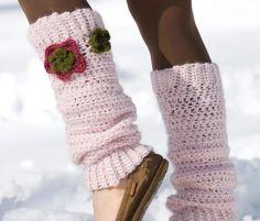 Floral Leg Warmers Crochet Pattern