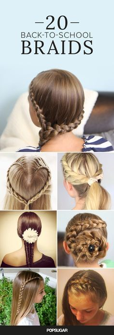 Back-to-school Success Guide: 20 beautiful braids for the trendy school girls.