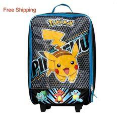 #Pokemon #Pikachu #Luggage #Back to School  #Kids #Travel