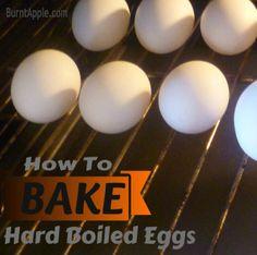 how to bake a hard boiled egg
