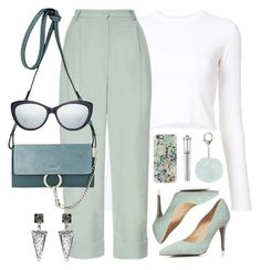 """""""Mint"""" by monmondefou ❤ liked on Polyvore featuring Proenza Schouler, Chloé, Taylor Morris, Nadia Minkoff, Dorothy Perkins, Casetify, Morgan Lane, Blue and mint"""