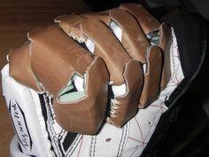 Lacrosse reinforced gloves for HEMA
