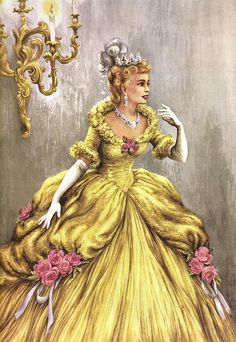 Cinderella At The Ball   Flickr - Photo Sharing! This is an image from a Cinderella book I had as a child in the 50's. And happily I still have the book.
