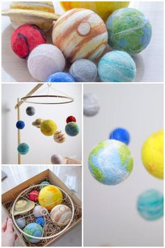 system mobile as a Mothers Day Gift. Space baby mobileSolar system mobile as a Mothers Day Gift. Space Themed Nursery, Nursery Themes, Planet Mobile, Solar System Mobile, Crafts For Kids, Arts And Crafts, First Mothers Day Gifts, Montessori Activities, Colorful Drawings