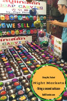 If you're in Chiang Mai, make sure you bring a second suitcase for all of the souvenirs that you'll be getting at the Chiang Mai Night Markets.