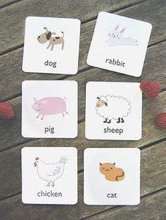1,2,3...Vamos Aprender!: Vamos aprender inglês - flashcards 3