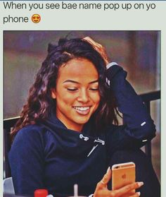 Big ole kool laid smile lol When bae name pop up on your phone Freaky Quotes, Bae Quotes, Mood Quotes, Girl Quotes, Wisdom Quotes, Qoutes, Black Relationship Goals, Relationship Memes, Cute Relationships